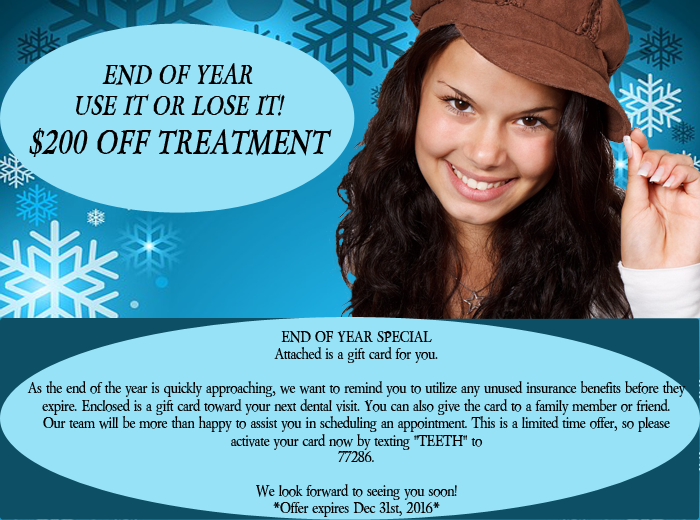 End of the year special - $200 off